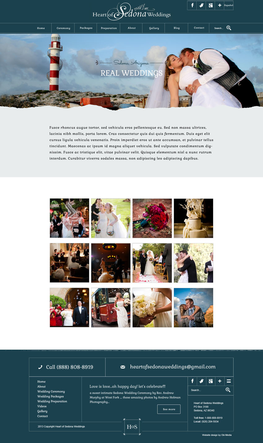Heart of Sedona Website design