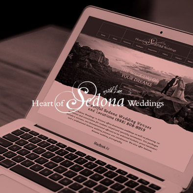 Heart of Sedona Website design