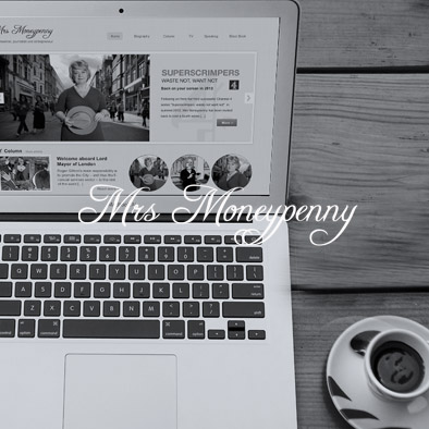 Mrs Moneypenny Website design