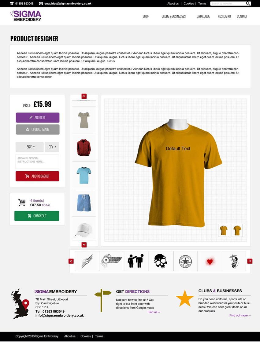 Sigma Embroidery Website design