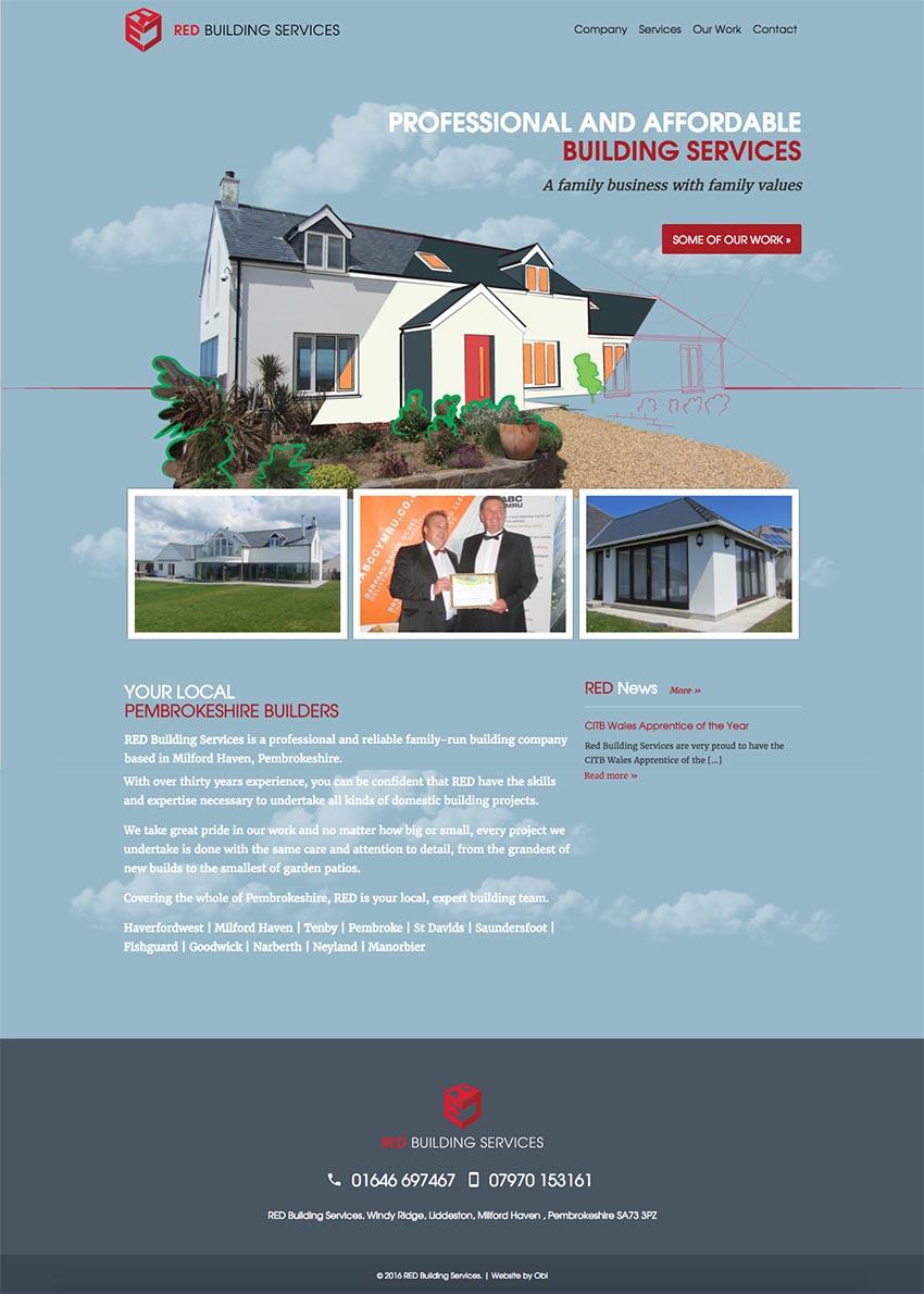 RED Building Services Website design